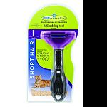 For cats over 10 pounds. 2.65 inch deshedding edge designed for coats shorter than 2 inches. Effectively reduces hairballs, keeping your cat healthier and happier. Reduces shedding up to 90 percent. Stainless steel edge reaches beneath topcoat to gently r