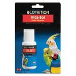 Vita-Sol for Birds is a homogenized water soluble multivitamin concentrate which supplies important vitamins for the proper growth and nutrition of your caged bird. 1 oz. Ultravite brand.
