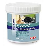 Excel Gentle ear cleansing for dogs & cats. Painless, fast acting formula dissolves waxy buildup. 8 In 1 Ear Clear Pads gently and effectively dissolve waxy build-up and removes debris. Routine use helps maintain good ear hygene.  90 ct.