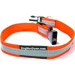 Blaze orange collar makes sure you and your dog satnd out at extended distances Perfect for walking your dog at night, especially along roads and sidewalks Double layer nylon webbing for extreme durability Genuine 3m reflective striping for high visibilit