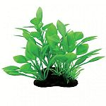 Realistic plant with natural colors and textures. Can be used individually or placed with others to create dense, aquatic jungle. Durable plastic foliage is easy to place and maintain. Heavy, dark, ceramic anchorbase keeps arrangement in place.