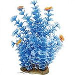 Realistic plant with varying heights and textures. Can be used individually or placed with others to create dense, aquatic jungle. Durable plastic foliage is easy to place and maintain. Heavy, dark, ceramic anchorbase keeps arrangement in place.