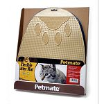 Place this flexible mat outside your cats litter pan to help keep cat paws and your floor clean from litter material. Flexible, durable material with a paw design to boot!