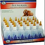 Counter display for individual retail sale of 2oz pet nurser bottles.