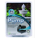 Ideal for large fountains Fits 1/2 and 3/4 inch id tubing 525 gallons per hour 16 foot cord 7 foot pumping height