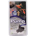 Ideal for small ponds Variable flow control Oil free, fish & plant safe Fits 1/2 in. id tubing 7 ft pumping height - 16 ft cord Eco friendly - energy saver