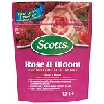 Steady feeding boosts blooms of all roses, annuals and perennials.
