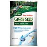Scotts Turf Builder Dense Shade Mix Grass Seed is ideal for areas that only get three hours of sunlight and is 99.99% free of weeds. Use mix under trees or shrubs and to fix bare or thin spots on your lawn.
