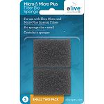 For use with elive micro and micro plus internal filters Removes large particulate matter from the water to help keep water clean Provides surface area for beneficial bacteria to colonize which helps remove harmful ammonia and nitrate from the water