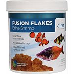 Fusion premium flakes were developed as a natural premium diet with limited ingredients Exra thick premium flake Whole brine shrimp