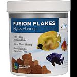 Fusion premium flakes were developed as a natural premium diet with limited ingredients Extra thick premium flake Whole mysis shrimp