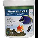 Fusion premium flakes were developed as a natural premium diet with limited ingredients Extra thick premium flake Spirulina algae and spinach