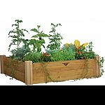 Great for small plots of veggies and/or flowers. With these beds you eliminate tilling, soil amending and minimize weeding. Easy to follow tool-free instructions. Soil capacity 14.2cf Place beds in an ideal sun location, add soil mix, and plant. Construct