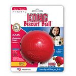 Recommended for medium and large dogs. Insert biscuits into the Biscuit Ball and watch your dog attack and chase the ball to get at the treats!  4 inches diameter