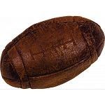 Soft vintage flat football dog toy Easy for dogs to fetch and carry Contains squeakers Double stitched for toughness and long-lastin durability Extra-soft feel