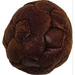 Soft vintage lat soccer ball dog toy Easy for dogs to fetch and carry Contains squeakers Double stitched for toughness and long-lasting durability Extra soft feel