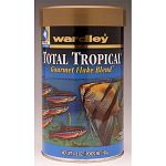 Wardley® Total Tropical™ Gourmet Flake Blend™ is a superior freshwater flake food for all tropical fish. This formula has been enhanced with higher levels of carotenoids.