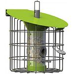 Stylish and beautifully made this feeder is designed to attract a wide variety of birds year round Suitable for seed & seed mixes Highly functional with a clever built-in hopper. Easy to fill and clean Squirrel, cat & big bird resistant