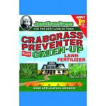 Crabgrass control herbicide controls crabgrass before and after it germinates Contains premium green-up fertilizer with polymer coated technology and covers up to 5,000 square feet Provides the nutrients needed for a green thick lawn Slow release formula