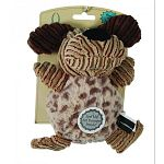 Multi textured dog toy with squeaker