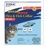 FleaTrol Breakaway Cat Collar by Zodiac. Zodiac Breakaway Collar for Cats contains an effective adulticide to kill fleas and ticks for up to five months.