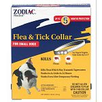 Fits dogs up to 15 inch neck. Easy-to-use collars kill fleas and Lyme disease-carrying ticks for up to five months. Works even when wet. Active Ingredient: propoxur (CAS #114-26-1) 10%.