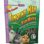 Rabbits love the taste of Timothy hay and this delicious treat is made with western Timothy hay pellets. Formulated to be high in fiber and low in calcium and protein. May be given to rabbits, guinea pigs and chinchillas. Size is 2.5 pounds.