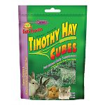 Your small animal pet will the fresh taste of these timothy hay cubes. Just place cube in the cage or food dish. Cube design stays cleaner longer than loose hay. Ideal for rabbits, guinea pigs, and chinchillas. Fortified with calcium and protein.