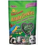 Open the bag and smell the sweet aroma of Brown's alfalfa cookie treats! These heart shaped, crunchy cookie treats are made with real alfalfa, captured straight from the alfalfa fields and oven baked with a little love in every crispy bite.