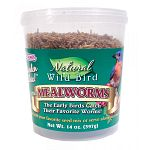 Farm-raised mealworms are quick-dried to lock in flavor, freshness and nutritional value. Blend with your favorite seed mix or serve alone as a treat. A natural high-energy source. High in protein. Preservative and additive free.