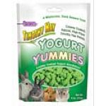 Timothy Hay Yogurt Yummies - 4 oz. are a high fiber, low protein and calcium snack that your small animal pet will find irresistible. Yummies are yogurt covered Timothy Hay pellets that are rich in fiber and promote proper digestion.