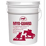 Protect your horse's muscular system with Myo-Guard. The ingredients in Myo-Guard decrease muscle soreness and stiffness during an exercise bout and reduce the recovery time following intense work. Myo-Guard stops muscle problems before they st