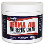 Fast-acting topical antiseptic ideal for use on surface wounds, chafes, scratches, saddle or girth sores. Use for all types of surface wounds on horses, dogs and cats. When used in conjunction with good cleaning practices, derma-aid may help speed recover