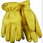 Grain deerskin heatkeep lining Keystone thumb Double shirred elastic back