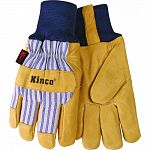 Grain pigskin palm Trademarked material back and cuff Wing thumb heatkeep lining Snug knit wrist