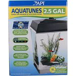 Kit includes mp3 player, 128 mb sound chip, 3.5 gallon seamless tank body, multi color led lighting, superclean filter Also includes perfect start ( 9 water conditioners) and fish food Sound system compatible with ipods, ipads, smart phones, and other mp3