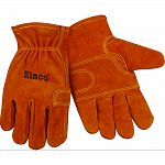 Designed especially for fencing and other tough jobs Durable and pliable split cowhide Reinforced palm Keystone thumb
