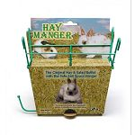 Perfect for any smal animal pet's cage, this Hay Manger with Salt Hanger by Super Pet helps to keep neatly contained in one spot. Attaches easily inside any wire cage and gives your pet easy access to the hay and salt. Keeps hay fresher.