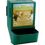 Feeders hold up to two pounds of food roughly 5 day supply. Has an exclusive snap lock bracket system for wire cages. Sifter floor design eliminates pellet dust. Also available in black #271101 or white #271100.