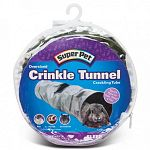 The crinkle tunnel by Super Pet is 23 inches long of crinkly, crackly fun for ferrets, chinchillas, dwarf bunnies, guinea pigs and pet rats. Your small pet will enjoy hiding out and running through this fun tunnel. Great entertainment for any small pet.