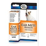An effective remedy to kill ear mites for dogs. Four Paws Ear Mite Remedy is pyrethrin based to kill ear mites quickly, easily and safely.  It contains the grooming ingredient aloe vera to soothe ears. It also aids in wax removal.