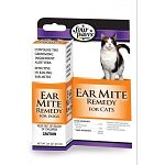 An effective remedy to kill ear mites for cats. Four Paws Ear Mite Remedy is pyrethrin based to kill ear mites quickly, easily and safely.  It contains the grooming ingredient aloe vera to soothe ears. It also aids in wax removal.