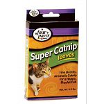 Four Paws Super Catnip Leaves & Blossoms are carefully hand-picked and sun dried making it an aromatic catnip that your cat will just love! Sprinkle in your cat's play area or fill in cat toys and watch your cat go wild! 0.5 oz