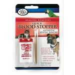 Four Paws Antiseptic Quick Blood Stopper is designed to be used by both veterinarians and breeders to aid in the stopping of blood when docking, cropping and/or nail cutting. For use on dogs, cats and birds.  1.16 oz