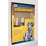 Vinyl-coated wire mesh is ideal for pets! Adjustable contact pads for uneven openings. 32 inches high, expands to fit openings 29.5 to 50 inches wide. Non-toxic clear finish. Safety plated hardware and non-marring bumpers. Pressure mount attachment.