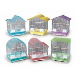 These cute and colorful bird cages are ideal for a home with multiple parakeets. Available in assorted pastel colors and styles. Use for parakeets, canaries, and other types of small birds. Easy to clean with a pull-out drawer.