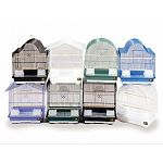 Parakeets and small birds, assorted colors assorted roof styles, 13 x 11 x 16 with 1/2 spacing.