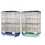 Cockatiel Flight Cage 26in x 14in x 36in (lxwxh)- Flight cage with two large front doors, 1/2in wire spacing. Available in assorted colors. Please let us choose for you.