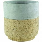 Aged cork finish is applied to all-natural concrete, resulting in a fashion-forward accessory with rustic flair. Plant with assorted succulents, air plants or simply use a catach all for keys and knickknacks. Made from all natural concrete. Durable and wi