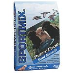 SPORTMiX® 27/12 Puppy Food is formulated for puppy's first full year of growth. The use of chicken meal as the main source of protein, combined with a high level of vitamins and minerals, promotes development of bones, teeth and muscles. 16.5 lbs.